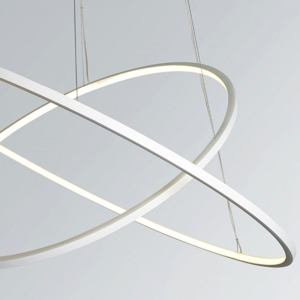 Biluce opposit lampada a sospensione led con anelli for Lampade a led e 27
