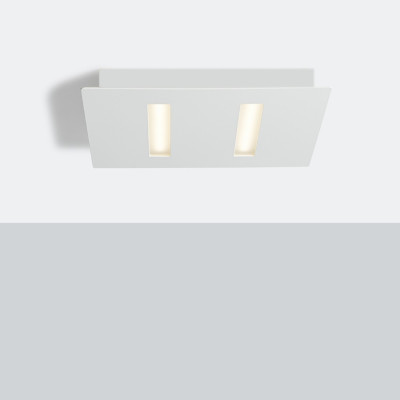 Biluce TRATTO Plafoniera LED 12W 21 cm Quadrata Extra Piatta Bianca