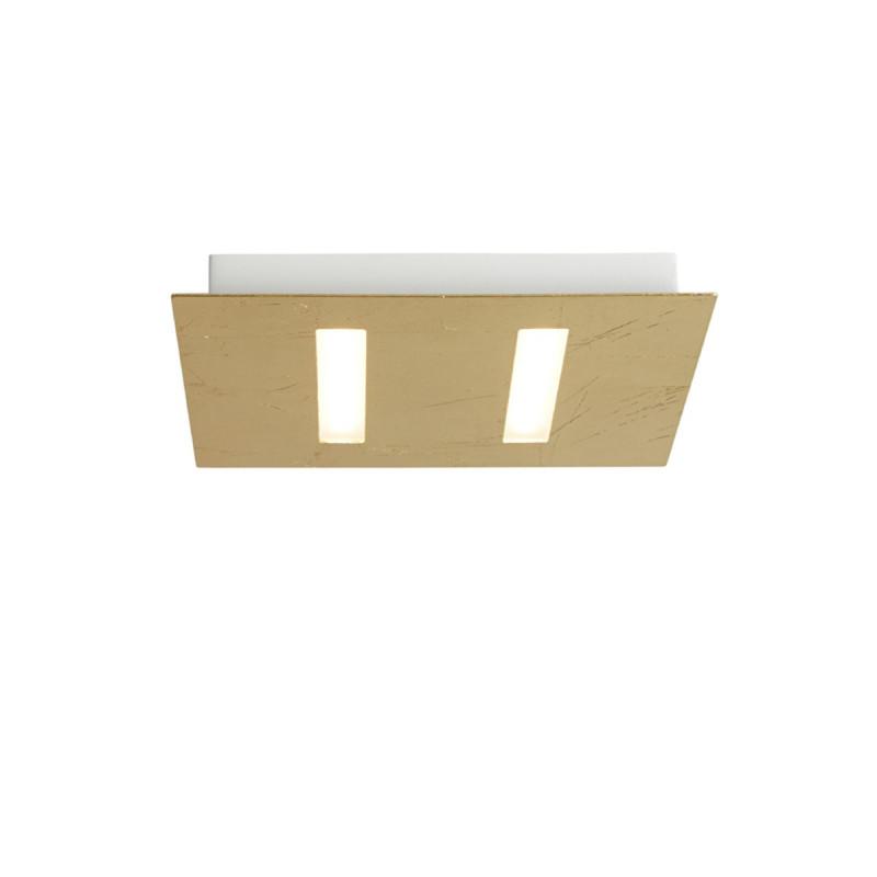 Biluce TRATTO 21 cm Plafoniera LED 12W Quadrata Extra Piatta Oro
