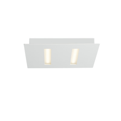Biluce TRATTO 21 cm Plafoniera LED 12W Quadrata Extra Piatta Bianca