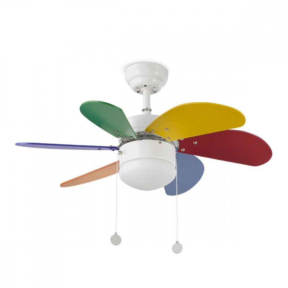 lampadario con ventilatore : Ventilatore multicolor per cameretta Ventilatori a soffitto con Luce
