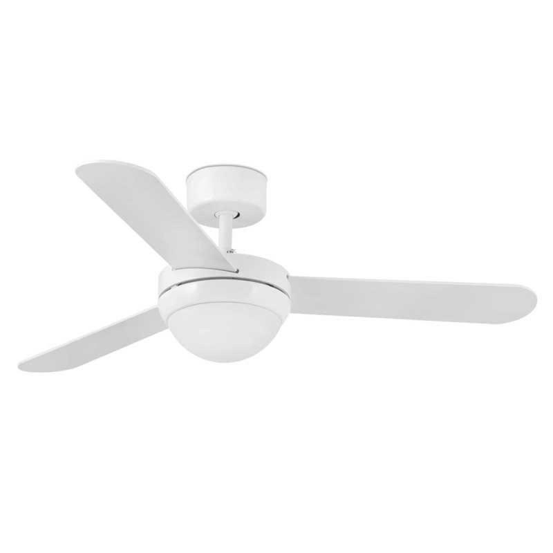 FEROE Ventilatore da Soffitto 106 cm con Luce e telecomando Pale Bianco