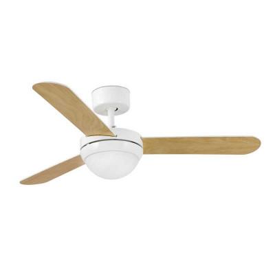 FEROE Ventilatore da Soffitto 106 cm con Luce e telecomando Pale Acero