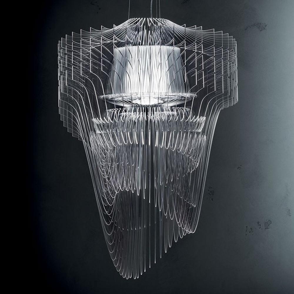 Slamp Aria Transparent L Lampada a Sospensione 70 cm LED ...