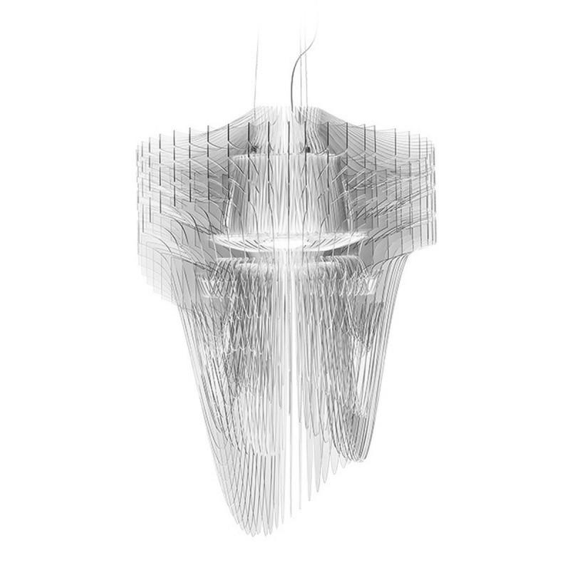 Slamp Aria Transparent L Lampada a Sospensione 70 cm LED 70W