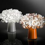 Slamp Clizia Table Bianco e Arancio