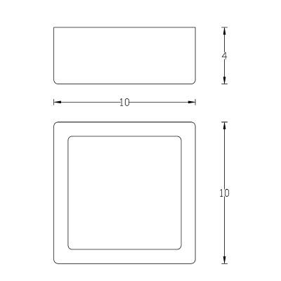 Blok - Applique Quadrata Cromo