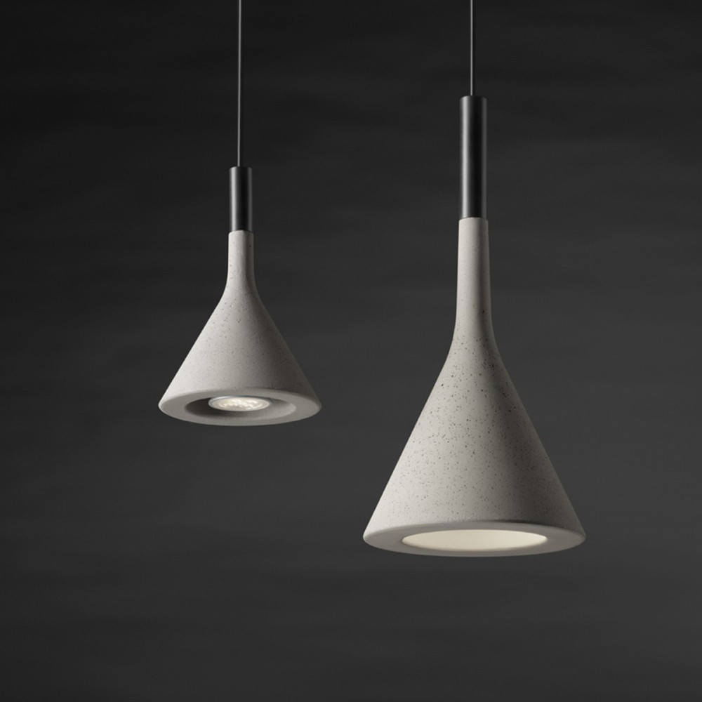 Foscarini APLOMB MINI lampada Sospensione in cemento diametro 11,5 cm