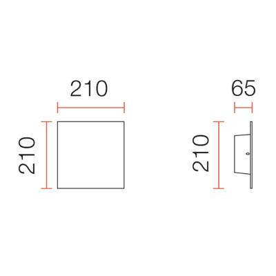 Quadrato LED - MISURE