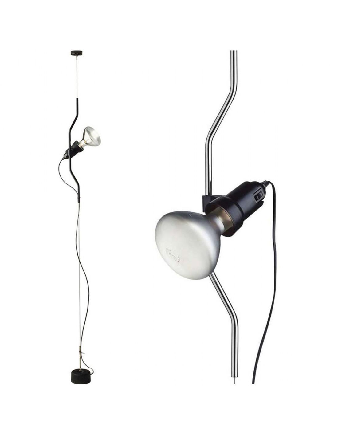 Flos parentesi lampada sospensione terra su eluce for Lampada flos da terra