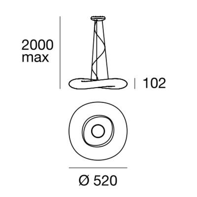 Linea Light MA&DE Mr Magoo Lampada Sospensione 50 cm Basso Consumo 22W