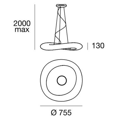 Linea Light MA&DE Mr Magoo Lampada Sospensione 73 cm 44W LED