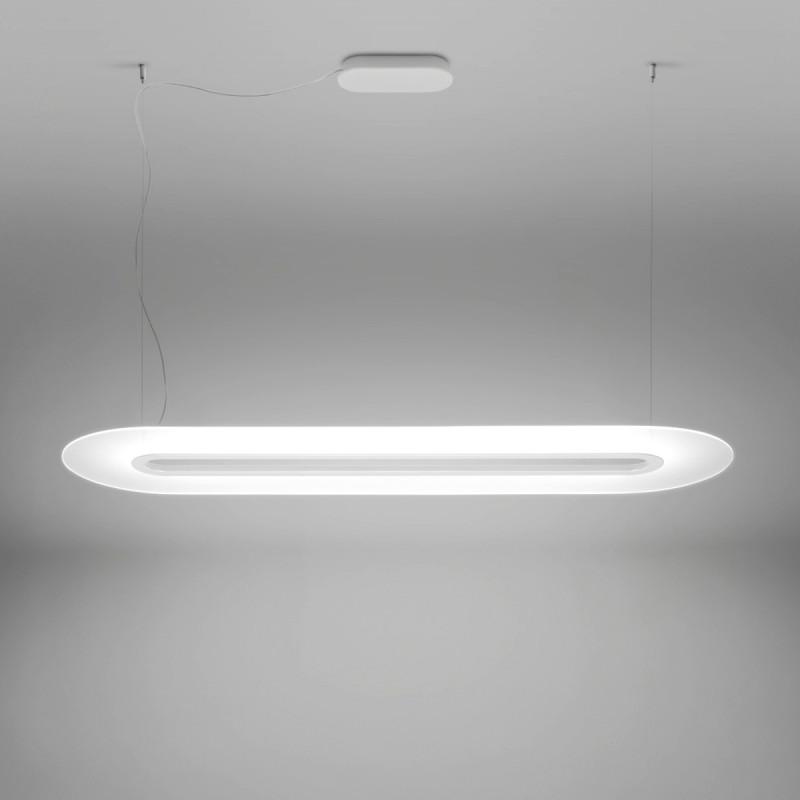 Linea light ma de opti line lampadario sospensione lineare for Hope lampadario