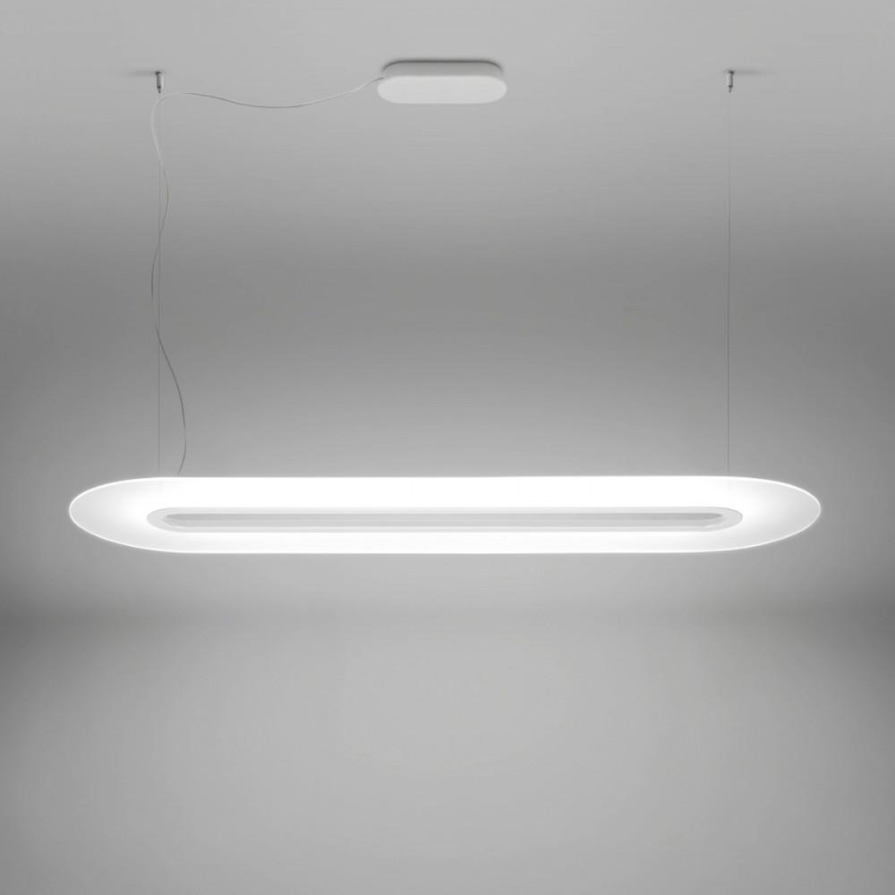 Linea light ma de opti line lampadario sospensione lineare for Lampadario a led