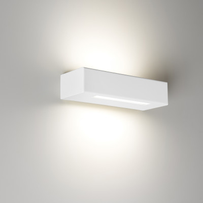 Essenza 22 Cm Bianco - Applique 14w Led Moderna Biemissione Made In Italy Classe A+