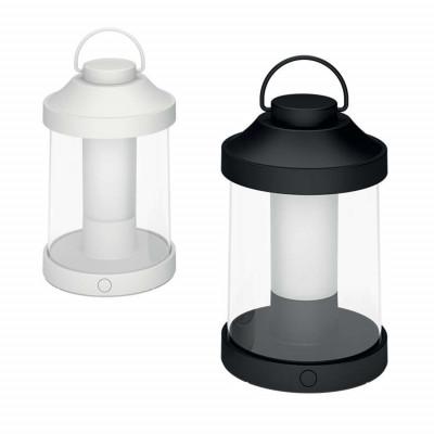 Lanterna LED esterni batterie ricaricabili nero e bianco