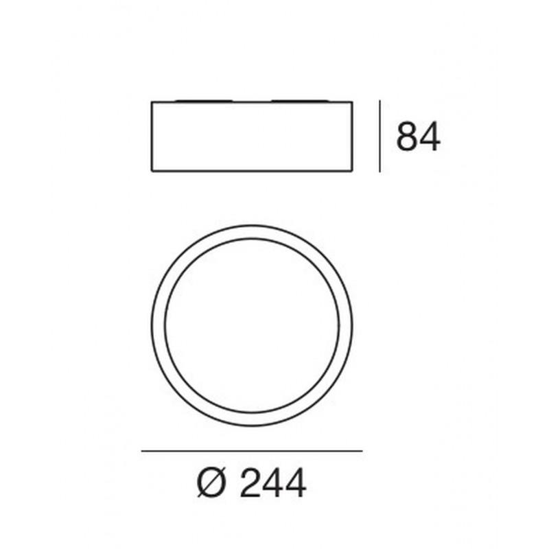 Linea Light Circle Box LED Plafoniera cm 24