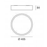 Linea Light Circle Box LED Plafoniera cm 41