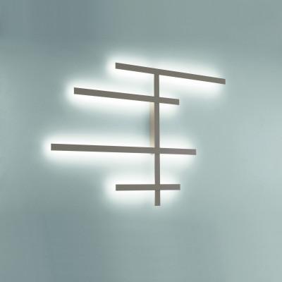 Rake AS Applique 9 LED Modulare Dimmerabile Luce Diffusa