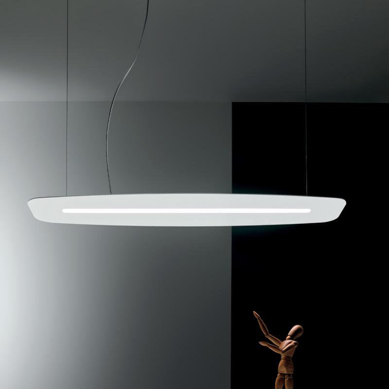 Surf sl lampadario sospensione led lineare cm 130 for Lampada alogena lineare led
