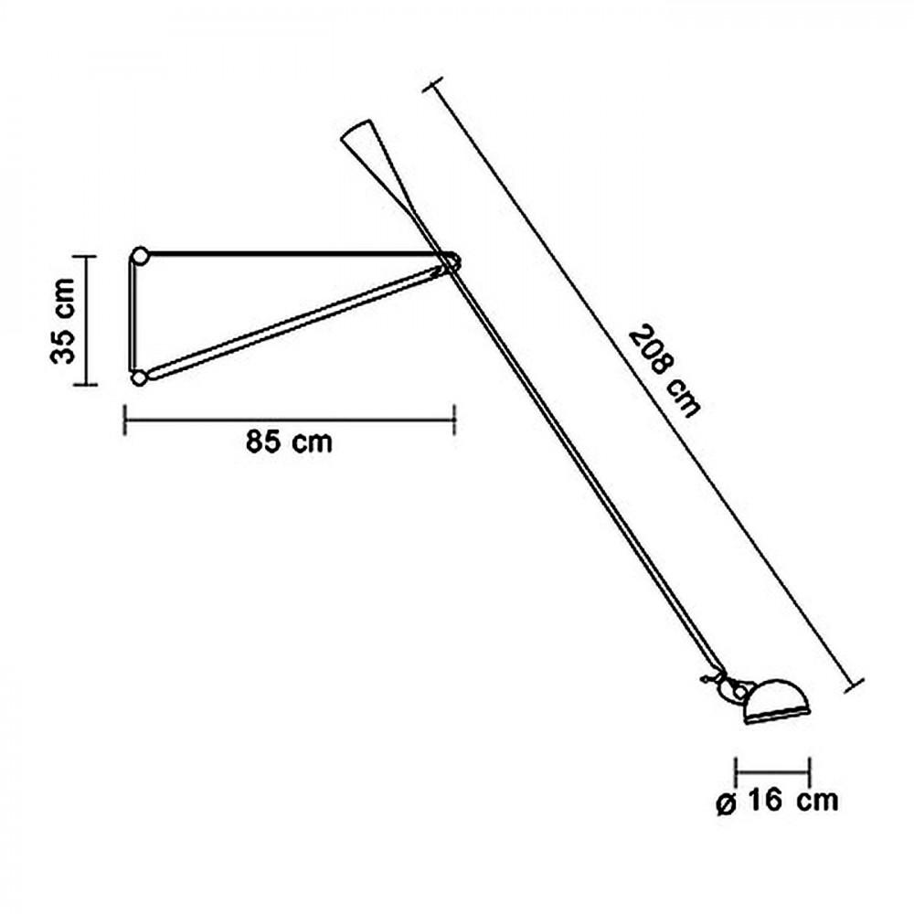 Flos 265 Lampada Parete Con Braccio Orientabile E
