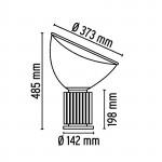 Flos Taccia Small Led H 48.5 cm lampada tavolo con dimmer