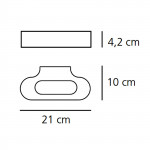 Artemide Talo Wall LED Applique 21 cm - misure