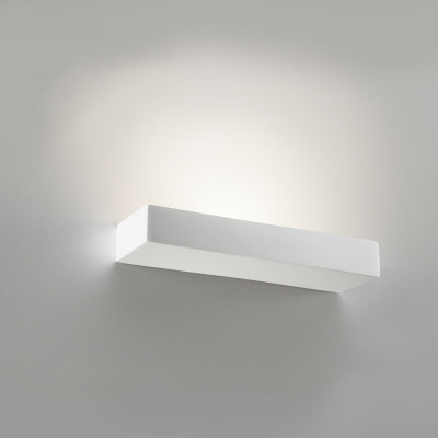 Mensola LED Applique Gesso Tinteggiabile 34 Cm