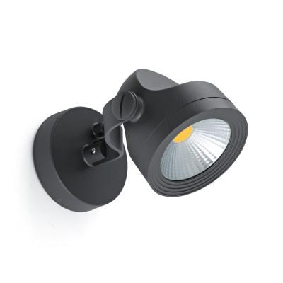 Faretto Parete Applique orientabile LED per Esterno IP65 Grigio