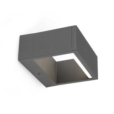 Applique LED per esterno moderna luce indiretta IP54 Grigio