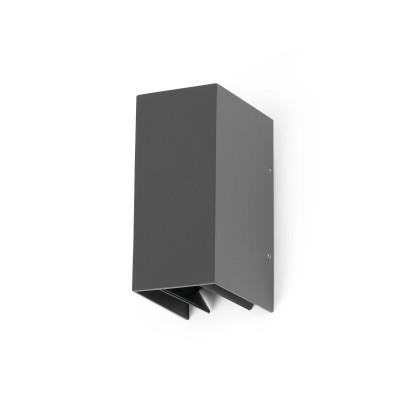 Applique esterno LED fasci regolabili grigio scuro