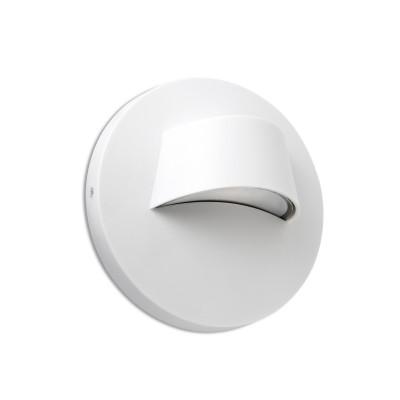 Segnapassi da parete per esterno rotondo Bianco LED 3W 3000K