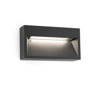 Segnapassi a parete per esterni da superficie in alluminio grigio scuro 9W