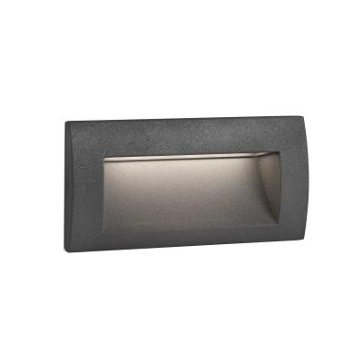 Faretto segnapassi INCASSO RETTANGOLARE LED per esterni RETTANGOLARE Grigio scuro