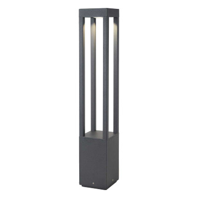 Paletto lampioncino LED per esterno moderno 65 cm IP54 Grigio