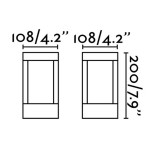 Paletto lampioncino LED per esterno moderno 20 cm IP54 Grigio