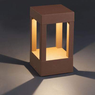 Paletto lampioncino LED per esterno moderno 20 cm IP54 Ruggine