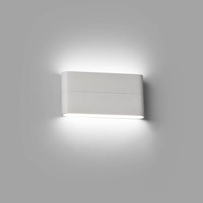 Applique LED per esterno Biemissione 17.5 cm IP54 Bianco