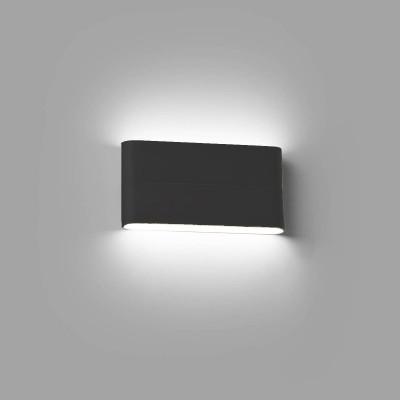 Applique LED per esterno Biemissione 17.5 cm IP54 Grigio Antracite