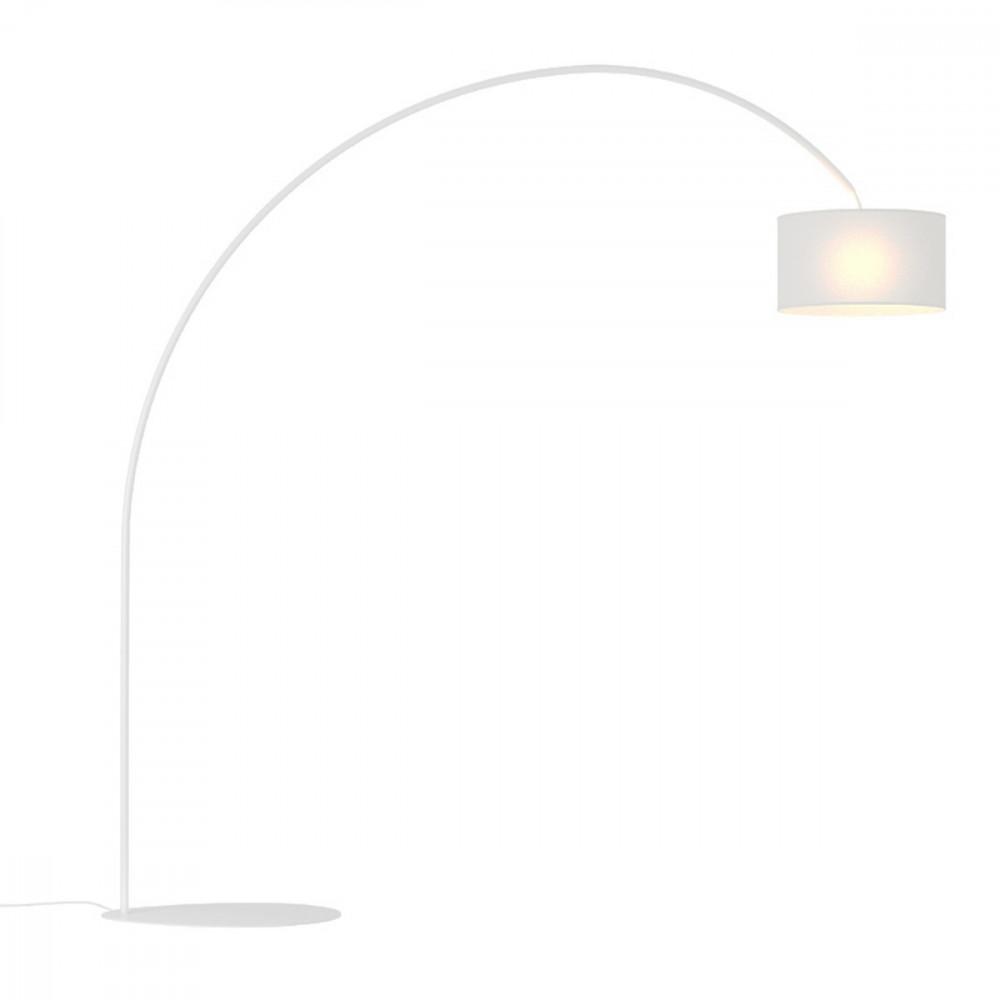 Lampada da Terra-Piantana ad Arco 230 cm bianco-nero-grigio ...