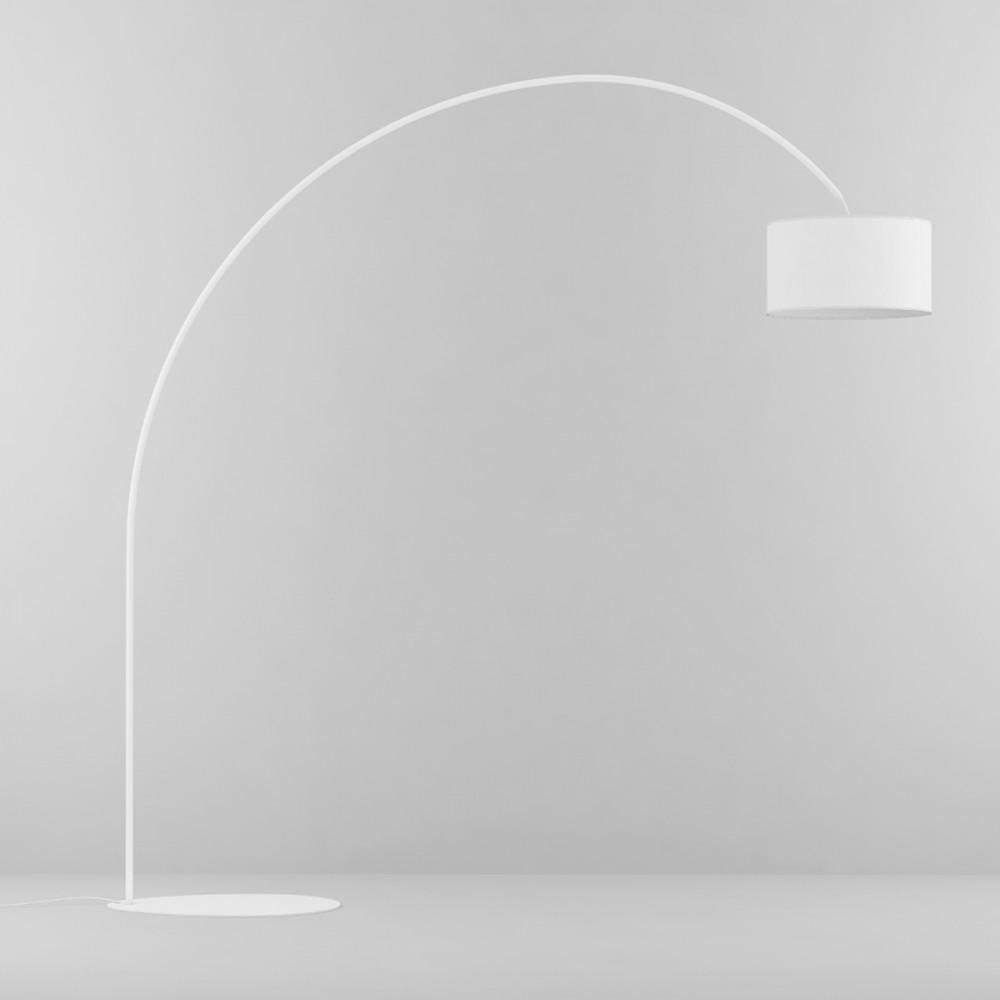 Lampada da Terra-Piantana ad Arco 230 cm bianco-nero-grigio - eluce ...