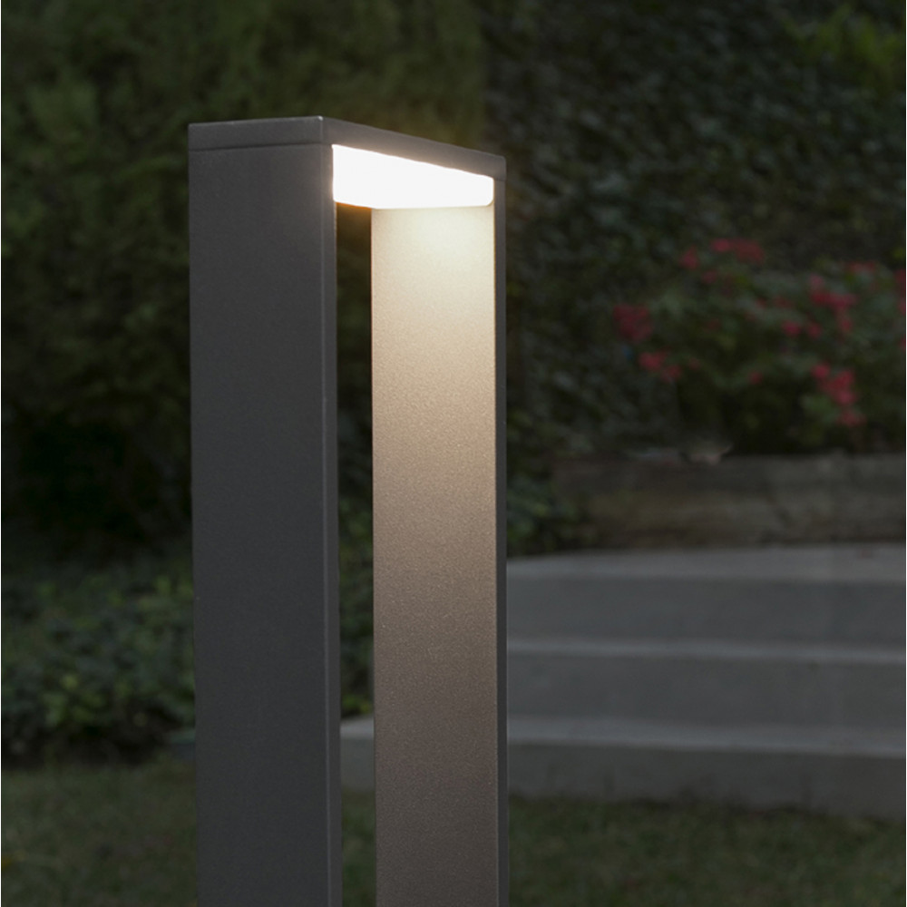 Paletti Illuminazione Esterna Led.Paletto Lampioncino 80 Cm Led Per Esterni Ip54 Grigio