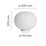 Flos Glo-Ball Basic 1 Lampada Tavolo Vetro D. 33 cm