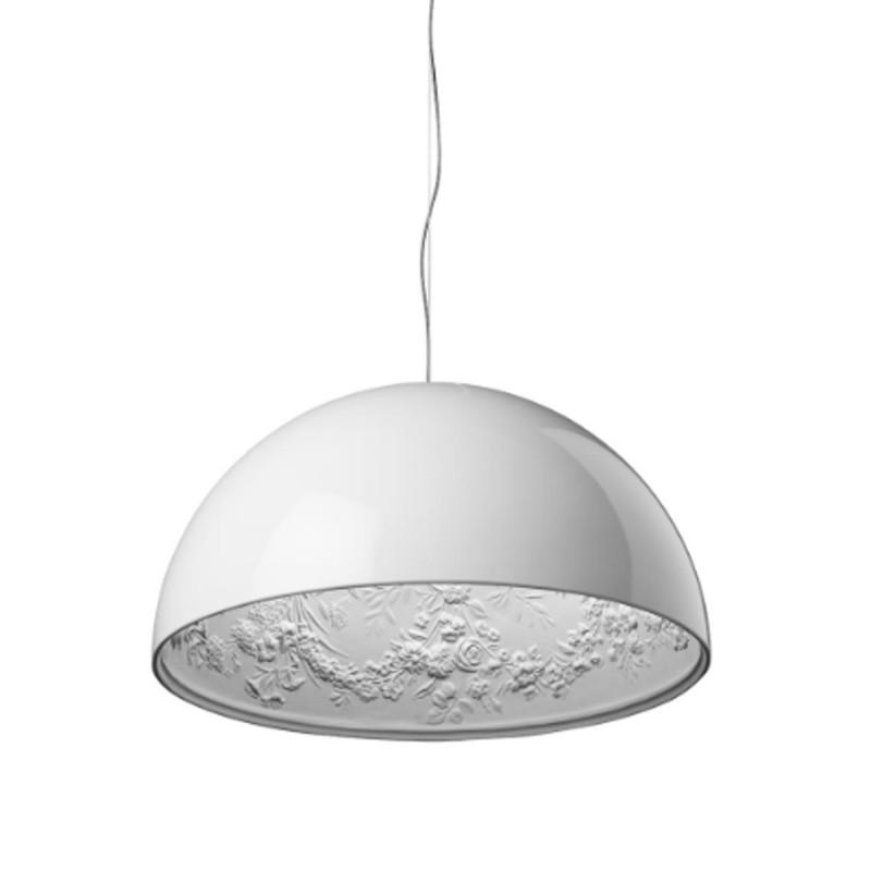 Lampadari A Cupola Moderni.Flos Skygarden 2 Lampadario Cupola D 90 Cm In Gesso Colato