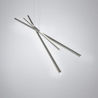 Biluce Segmenti Lampadario LED Lineare con Aste incrociate