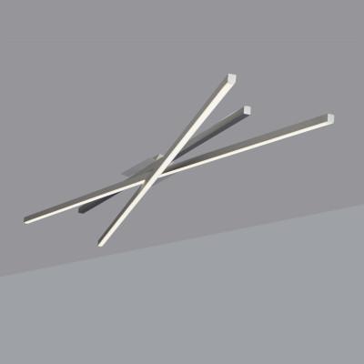 Biluce SEGMENTI Plafoniera LED Lineare con Aste incrociate 70 cm