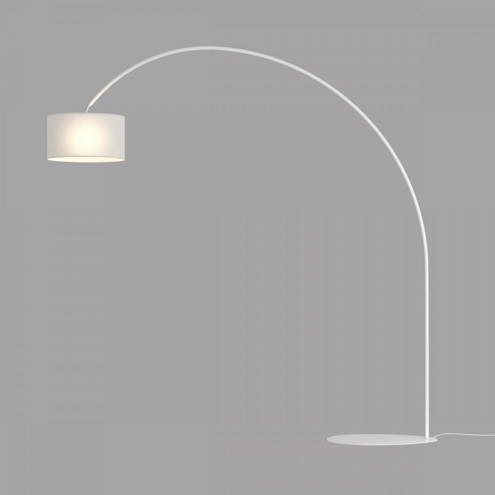 Lampada Da Terra Piantana Ad Arco 230 Cm Bianco Nero Grigio