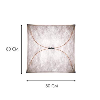 Flos Ariette 1 Applique Plafoniera in tessuto 80 cm