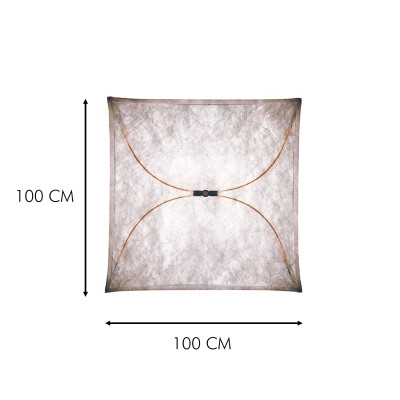 Flos Ariette 2 Applique Plafoniera in tessuto 100 cm