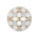 Slamp Mida Parete Soffitto 50 cm - White Gold